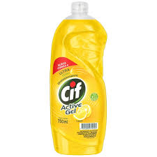 CIF ACTIVE GEL CORE LIMON 750 ML, detergente