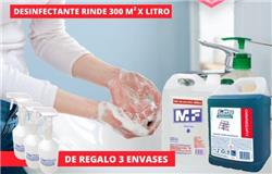 PACK ALCOHOL EN GEL + DESINFECTANTE CUATERNARIO